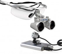 2.5X 420MM -Dental Magnifaying Loupe +LED -light
